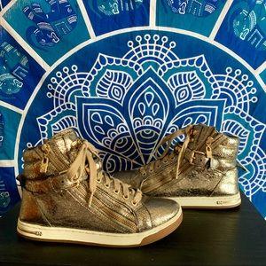 Michael Kors Gold High Top Sneakers ✨
